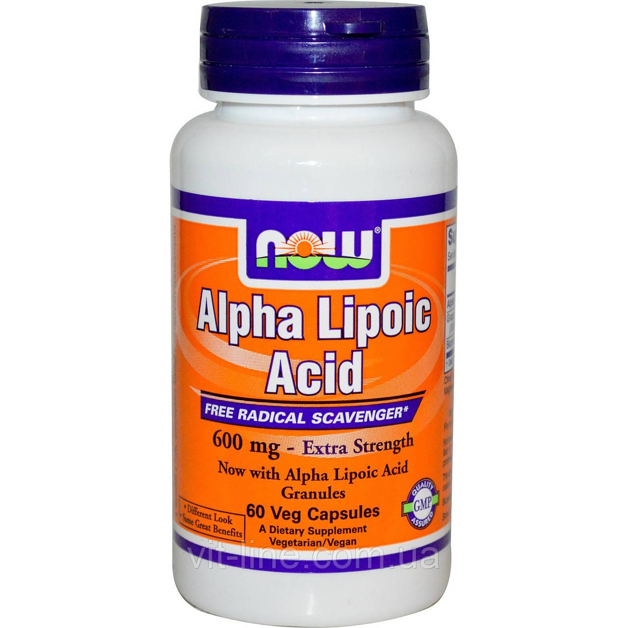Альфа ліпоєва кислота Now Foods (600мг; 60 капсул)