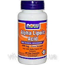 Альфа липоевая кислота Now Foods (600мг; 60 капсул)