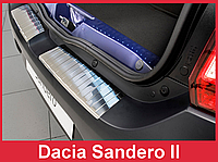 Накладка на задний бампер из нержавейки Dacia Sandero 2 Hatchback