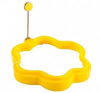 Силиконовая форма для яичницы  Цветок желтый
