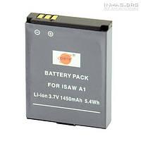Аккумулятор для экшн видеокамеры ISAW A2, 1450 mAh.