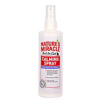 8in1 NATURES MIRACLE JFC No Stress Calming Spray успокаивающее средство Антистресс для кошек, 236мл