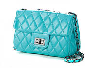 Голубая женская сумочка в стиле Chanel Classic