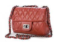 Коричневая женская сумочка в стиле Chanel