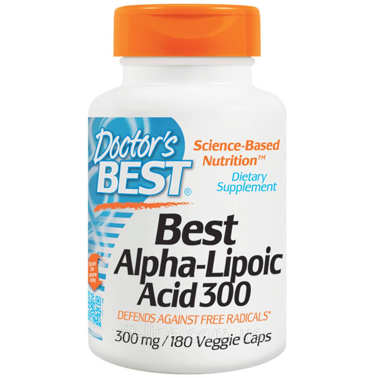 Альфа-Липоевая кислота, 300 мг, 180 капсул от Doctor's Best
