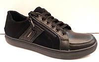 Туфли-слипоны мужские натуральная кожа/замша Uk0322