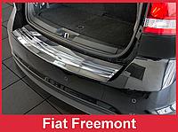 Накладка на задний бампер из нержавейки Fiat Freemont ( 2011 -...)