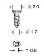 Винт титановый самонарезающий 1,2 х 8 мм КОНМЕТ