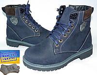 Детские кожаные (нубук) деми ботинки 32р