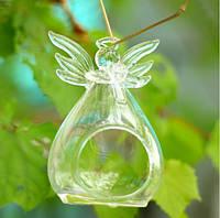 Подвесной стеклянный подсвечник - Ангел 11 см