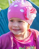 Головной убор для девочек Красный Осень 52-56 см 3-002522 Tutu Польша