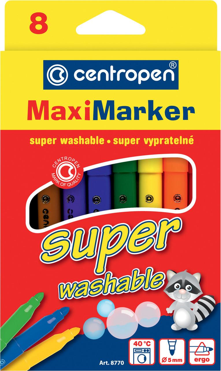 Фломастери 8770 Maxi, набор 8 шт.