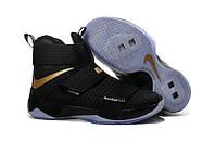 Кроссовки Nike Lebron 10 Soldier Black/Gold
