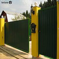 Бытовые откатные ворота