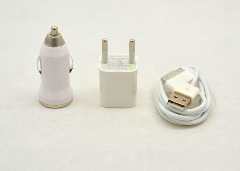 СЗУ+авто зарядка iPhone 4 комплект