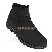 Мужские демисезонные ботинки, натуральная кожа нубук. 42 размер
