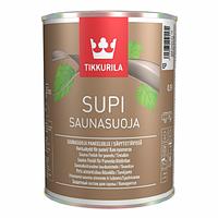 """Supi saunasuoja """"Супи саунасуоя"""" защитный состав для стен и потолков во влажных помещениях 0,9л"""