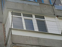 Балконная рама металлопластиковая