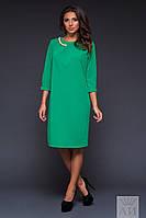 Женское батальное платье из дайвинга с цепочкой