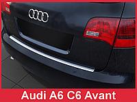 Накладка на задний бампер из нержавейки Audi A6 C6 Avant