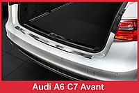 Накладка на задний бампер из нержавейки AUDI A6 C7 Avant