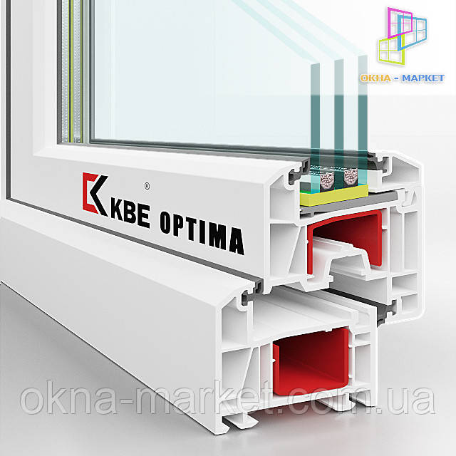 Профильная система Optima в разрезе, фирма