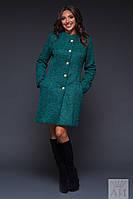 Женское пальто на пуговицах с карманами
