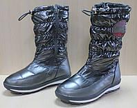 Детские сапоги дутики на девочку, детская зимняя обувь Том.м р.35,38