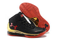 Кроссовки Under Armour Curry One Black/Red/Gold РЕПЛИКА ААА