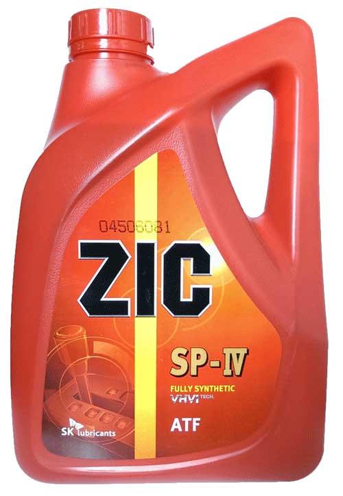 Синтетическое трансмиссионное масло ZIC ATF SP4 4л.