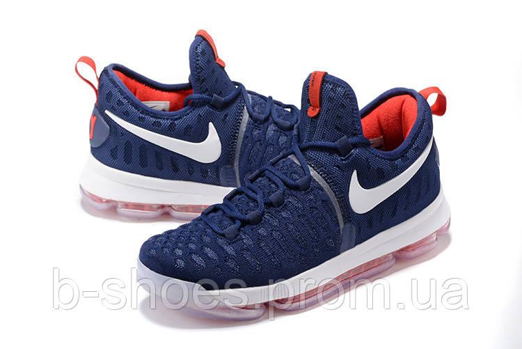 Мужские баскетбольные кроссовки Nike KD 9 (Blue/White/Red)