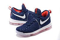 Мужские баскетбольные кроссовки Nike KD 9 (Blue/White/Red), фото 1