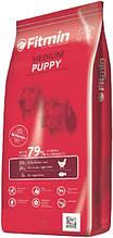 Fitmin dog medium puppy Корм фитмин для цуценят середніх і великих порід від 2 до 12 міс., вагітних і лактуючих сук, 15 кг