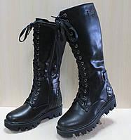 Зимние кожаные высокие ботинки на девочку тм Том.м р.36,37,38