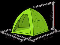 Зимняя палатка Лотос 3 (Lotos 3) зонт (д*ш*в 2,7*2,5*1,8) 3-х местная
