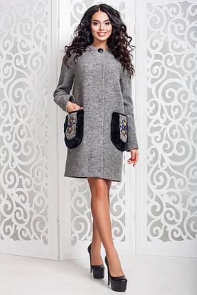 Женское стильное осеннее пальто (р. 44-58) арт. 973 Тон 10, фото 2