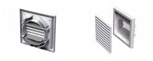 Вентиляционная решетка пластиковая с универсальным фланцем