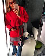 """Пальто женское из кашемира с подкладкой """"Геометрия"""""""