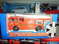 Машинка металлическая моделька пожарная