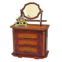 "Коллекционный набор мебели ""Комод"". Объемный пазл. Материал: картон."