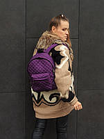 Рюкзак фиолетовый стеганый нитью, фото 1
