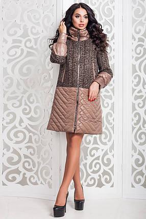 Современное женское осеннее пальто (р. 44-58) арт. 972 Тон 10, фото 2