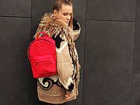 Рюкзак красный стеганый нитью, фото 1