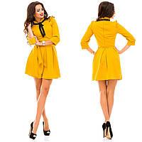 Женское красивое платье MINI 143 / горчица