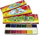 """Краски акварельные полухие  """"Мультики"""",12 цветов, картонная упаковка , 211048, фото 3"""