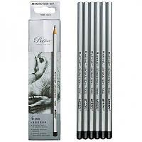 Набор простых карандашей 6 шт от 2Н до 3В