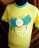 Стильная мужская футболка известной фирмы H-1 желт