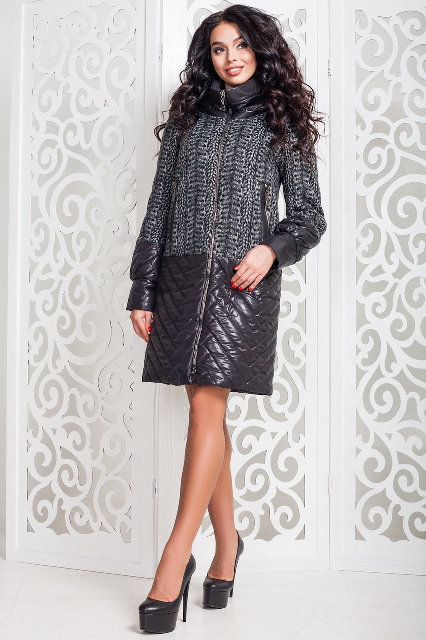 Модное женское осеннее пальто (р. 44-58) арт. 972 Тон 12