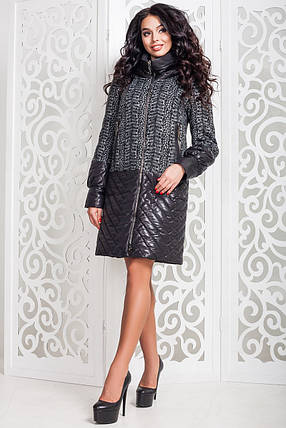 Модное женское осеннее пальто (р. 44-58) арт. 972 Тон 12, фото 2