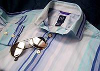 Рубашка GAP в сине-бело-голубую полоску. Оригинал.